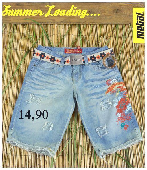 🌺🌼🌸 Flower power 🌺🌼🌸 Γυναικεία τζιν βερμούδα με σκισίματα και κέντημα με λουλούδια.  #metal #metal_deluxe #shorts #fashion #jeans #flower #rip #ripped_shorts #ripped_jeans #summer_shorts #sea #denim #summer #summer_jeans #womensfashion #womensclothes #womensjeans #girl #fashionista #style #stylish #icon #newarrivals