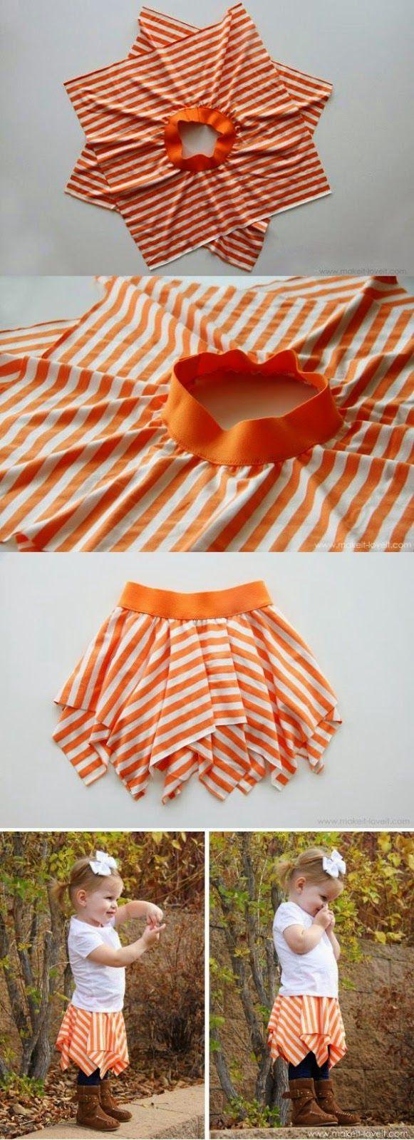 Tutoriales y DIYs: Falda para niña