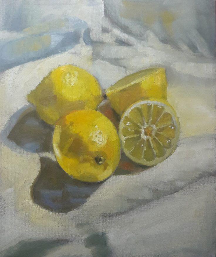 Lemons - oil on canvas