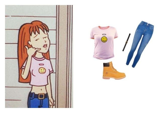 """""""Steal Her Look™ - Quinn Morgendorffer"""" by guava-juice ❤ liked on Polyvore featuring River Island, Yves Saint Laurent and Timberland"""