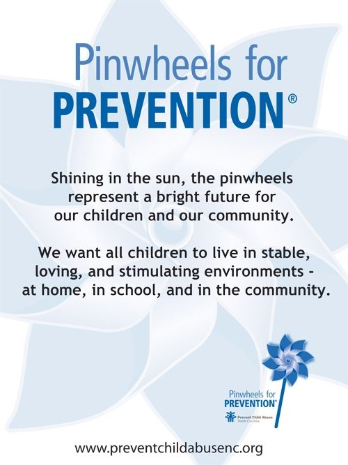 Show your community you support children's healthy development with a pinwheel garden this April! Pinwheel gardens represent our effort to focus on community activities that support families and public policies that prioritize prevention right from the start to make sure child abuse and neglect never occur. Order now!