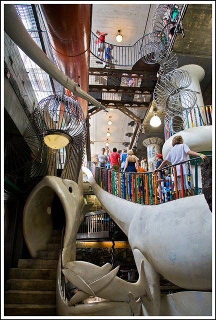 The City Museum in STL, I tried to pin from their website it wouldn't work. but check it out! http://citymuseum.org/