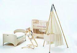 Βρεφικό δωμάτιο Leander.  Συνδυασμός πέντε επίπλων. Λίκνο-βρεφικό κρεβάτι-κρεβάτι-σιφονιέρα-κάθισμα φαγητού.  Το όνειρο κάθε παιδιού!