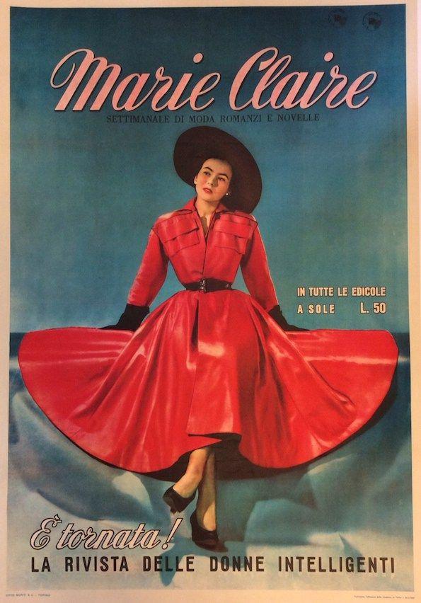 #Marie #Claire, settimanale di moda romanzi e novelle #original #vintage #poster  manifesti originali d'epoca www.posterimage.it