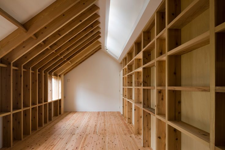 exposed structure as shelving and storage