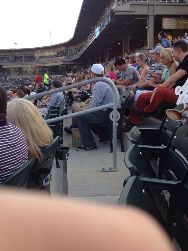 Luke Kuechly spotted at the Charlotte Knights baseball game tonight... That lucky girl sitting next to him :/