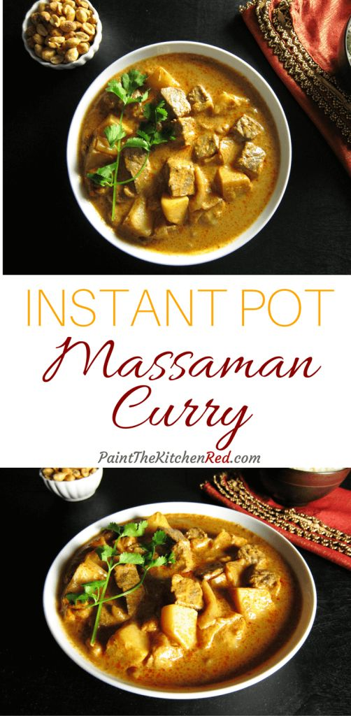 Instant Pot Beef Massaman Curry Pinterest - Paint the Kitchen Red