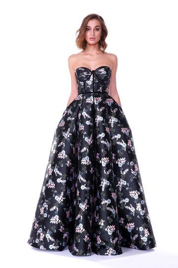 Платья в пол : Пышное платье с принтом Isabel Garcia, IGFW17LDRL-BB954