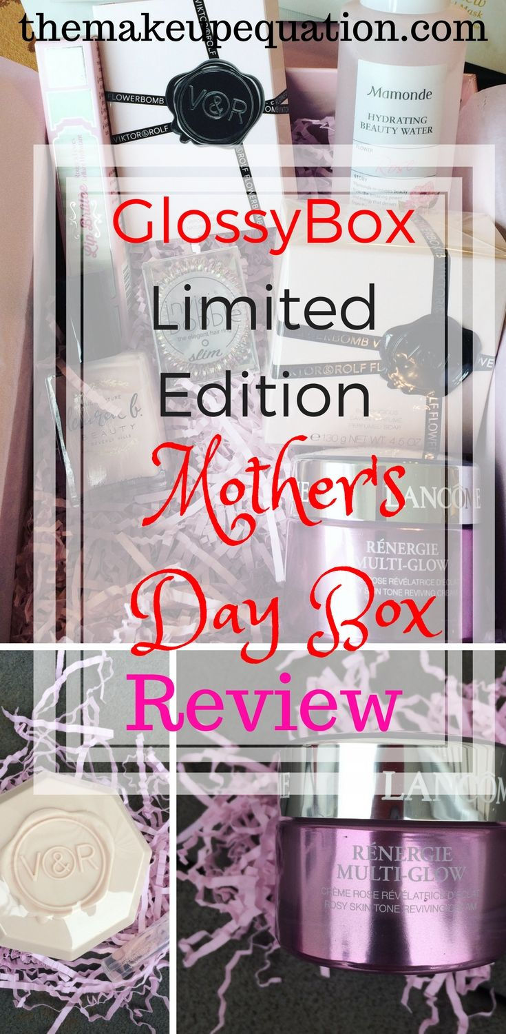 The Limited Edition Mother's Day GlossyBox will make the perfect gift for any mom! This very limited Edition box contains HUGE full sized luxury products that will make mom feel like she just left the spa! Hurry, these will sell out fast! #glossybox #mothersday2018 #glossybox #glossyboxcoupon #beautyreview #beauty #skincare #luxuryskincare #giftsformom #mothersdaygifts #giftsforher
