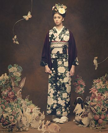"fuckyeahwafuku: "" I wish they would put up a ton of hi-res photos from this shoot… I wish all kimono designers would do shoots like this!! """