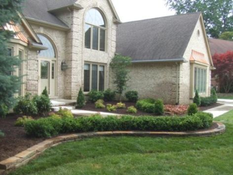 front yard landscapingGardens Yards, Frontyard Ideas, Frontyard Landscaping Ideas, Front Yard Landscaping, Landscapes Border, Bricks, Frontyard Landscapes Ideas, Front Yards Landscapes, Yards Ideas