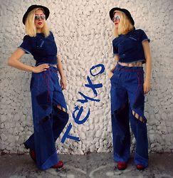 Lara Popa - Teyxo Bohemian Blue Jeans, Teyxo Denim Blouse - Rhapsody in blue