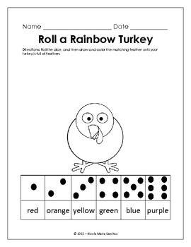 Kindergarten Common Core Math Activity - November Roll A R