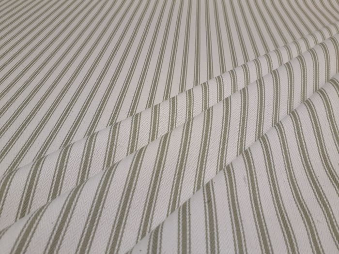 French Woven Ticking Sage Green S2 Textile Express Fabrics Buy Fabric Online Striped Upholstery Fabric Upholstery Fabric Uk Striped Upholstery