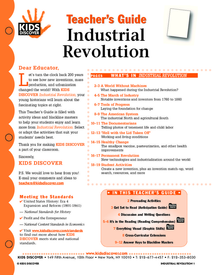 This is basically everything I need to teach the industrial revolution. It includes activities, questions, graphics, guides, extensions, and more. This is something I can use to definitely get ideas on how to teach this unit. H.S.