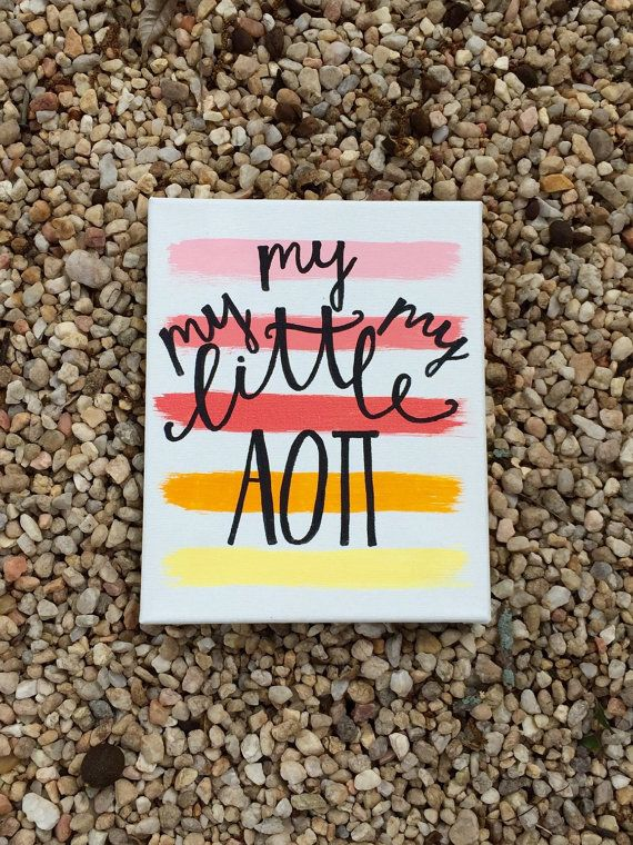 My My My Little AOII ADPI Sorority Girl Canvas by CrimsonPearls