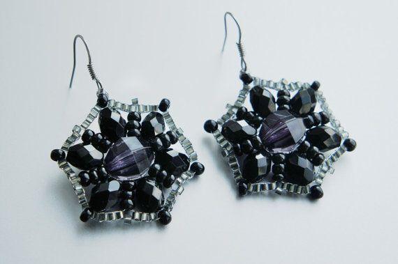 Vintage hand-made Earrings #jewelry от Khanolainen на Etsy
