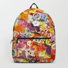 Buttons 3 Backpack by I Love the Quirky