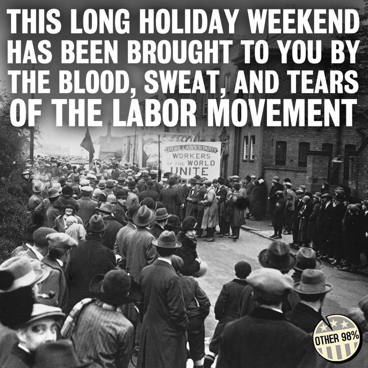 This long holiday weekend has been brought to you by the blood, sweat and tears of the labor movement. [click on this image to find an anti-union attack advertisement, which can be used to illustrate Marx's argument around ideology as a way to promote false consciousness]