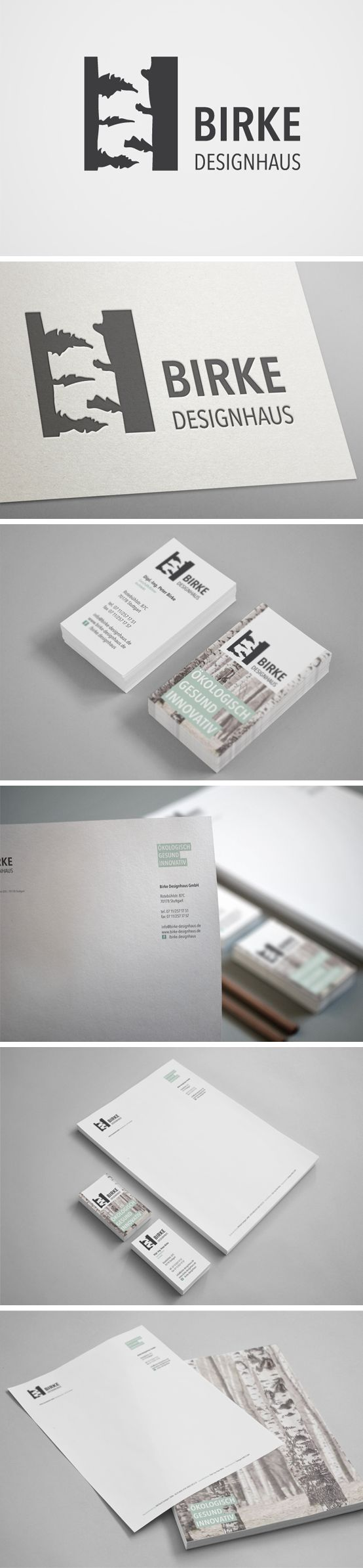 Corporate Design für Birke Designhaus | #stationary #corporate #design #corporatedesign #logo #identity #branding #letterhead #briefpapier #visitenkarte #business card #Germany | made with love in Stuttgart by www.smoco.de