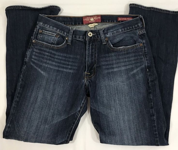 """Lucky Brand Jeans 361 Vintage Straight Mens Size 30x30 Dungarees 9.5"""" Rise    eBay"""