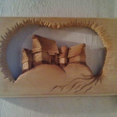 Drevorezba ručné vyrezávaný drevený obra... za 30€ | Jaspravim.sk