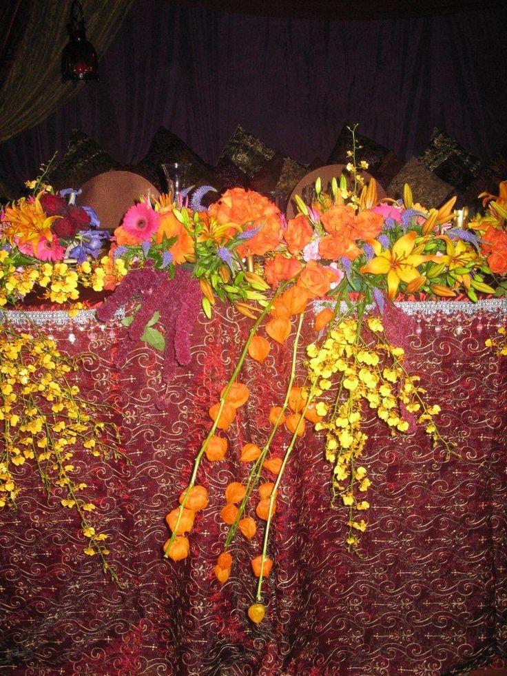 Moroccan wedding them - flowers