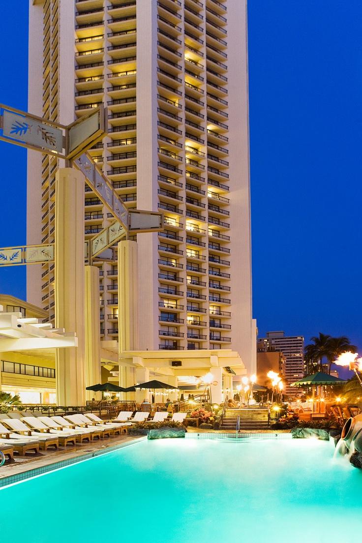 Our freshwater pool at Hyatt Regency Waikiki Beach Resort  Spa overlooks the Pacific Ocean.