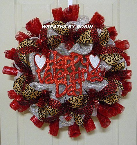 CLEARANCE - Happy Valentine's Day Wreath, Valentine's Day Décor - Item 2458