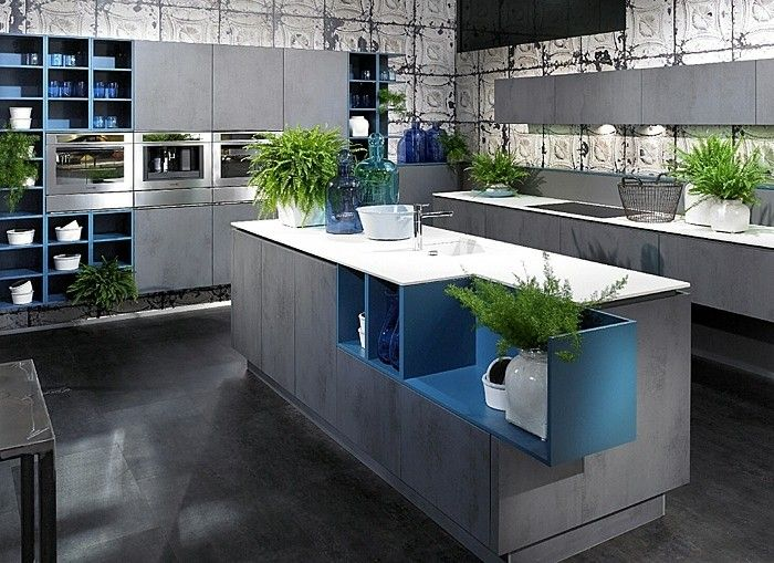 Die besten 25+ blau grau Küchen Ideen auf Pinterest Graue küche - k che hochglanz grau