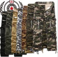 Wholesale New Army Men s Clothing Military camo cargo pants leisure Trousers Combat Trousers Camouflage work pants for men plus size colors