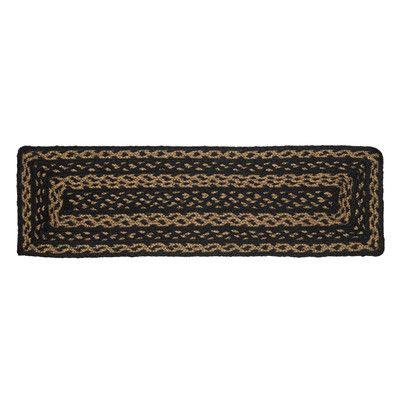 VHC Brands Farmhouse Black/Brown Stair Tread Rug Size: