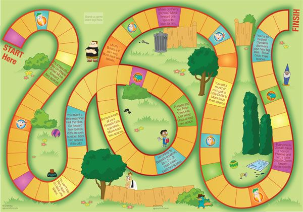 Disney Board Games Printable   when you print and assemble the Phineas and Ferb's Backyard Board Game ...