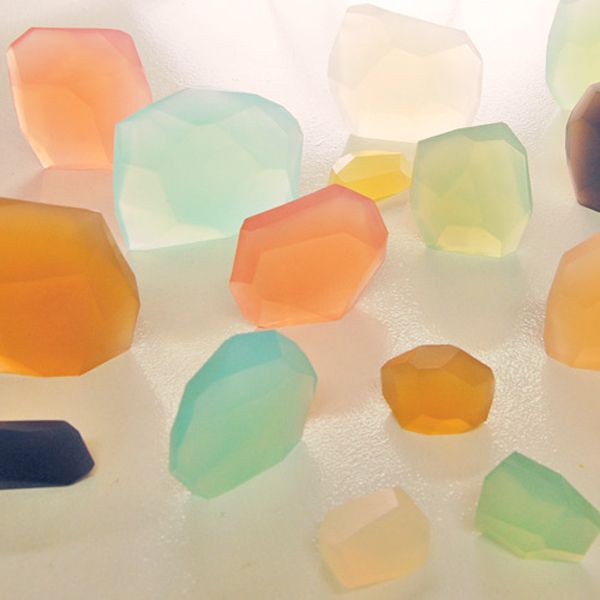 Handcut and handmade soap from PELLE. Inspired by gemstones.