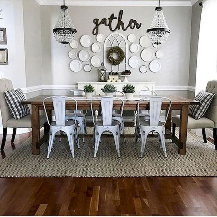 Adorable 60 Adorable Dining Room Wall Art Ideas And Decor Source 33decor Com Din Dining Room Makeover Dining Room Design Farmhouse Dining Rooms Decor