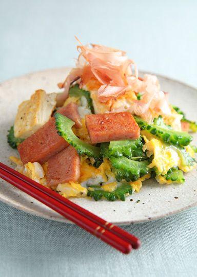 ゴーヤーの塩チャンプルー のレシピ・作り方 │ABCクッキングスタジオ ... ... 風味豊かに仕上がります♪ ゴーヤー以外にも青パパイヤ・ヘチマ・麩などで作ることができます。また、スパムがない場合は豚肉・ベーコンなどで代用可能です!
