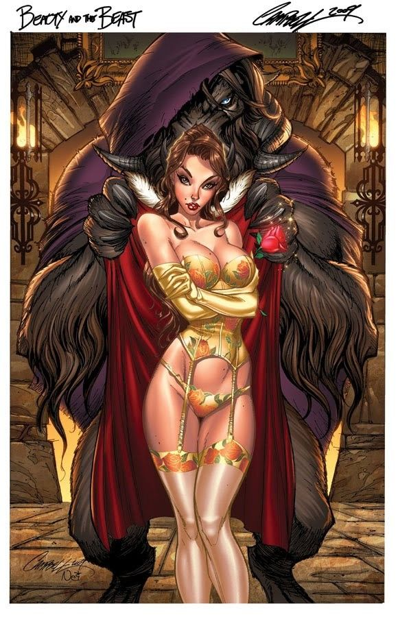 love this....  Hot Fairytale Ladies in Comic Style by Jeffrey Scott Campbell |Gadgetsin