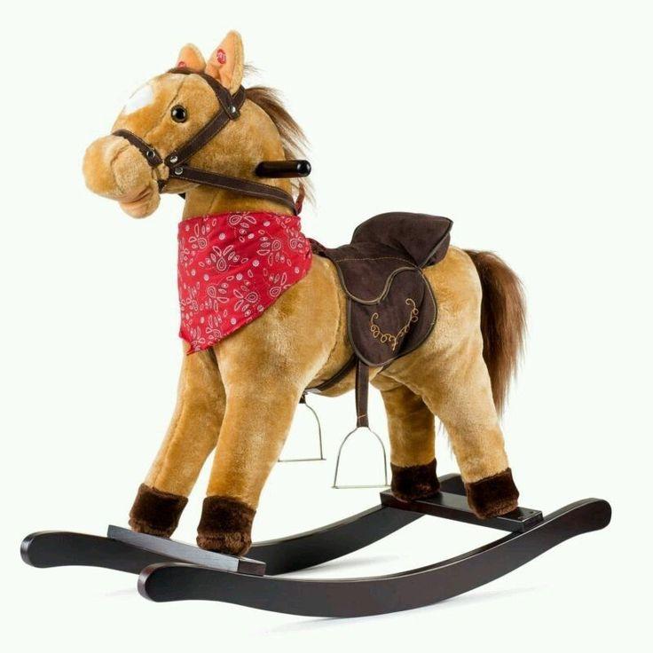 Rocking Horse Cowboy Toddler Tan Ride Rocker Baby Kids Toys Christmas Gift Rodeo in Toys & Hobbies, Classic Toys, Rocking Horses | eBay