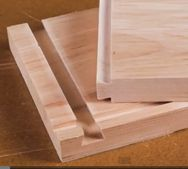 The French dove tail - ideal for Router usage while constructing boxes or drawers - instead of struggeling with the original dovetail, just router both sides.....  Genius