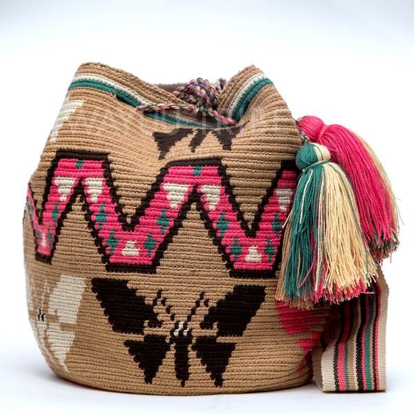 Cabo Wayuu Mochila bags are intricate in their designs, can take approximately 18 -20 days to weave. Hand Woven Strap using woven one thread.  Handmade in South