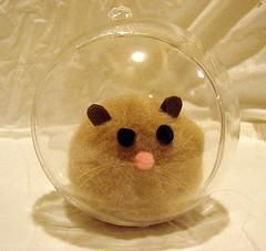 Craft alert! Make your own hamster in a ball w/ this #smallandcute DIY project. (via Snarky Dork)