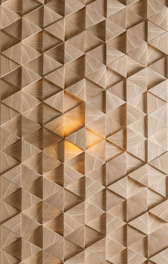 Wooden Wall 3d Tiles With One Led Element 3 5watt Area 1 Pc 0