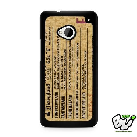 Disneyland E Ticket Brown HTC G21,HTC ONE X,HTC ONE S,HTC M7,M8,M8 Mini,M9,M9 Plus,HTC Desire Case
