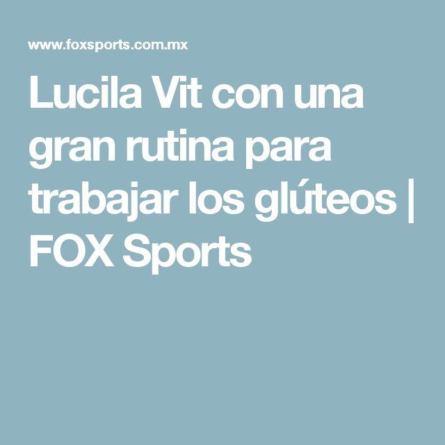 Lucila Vit con una gran rutina para trabajar los glúteos | FOX Sports