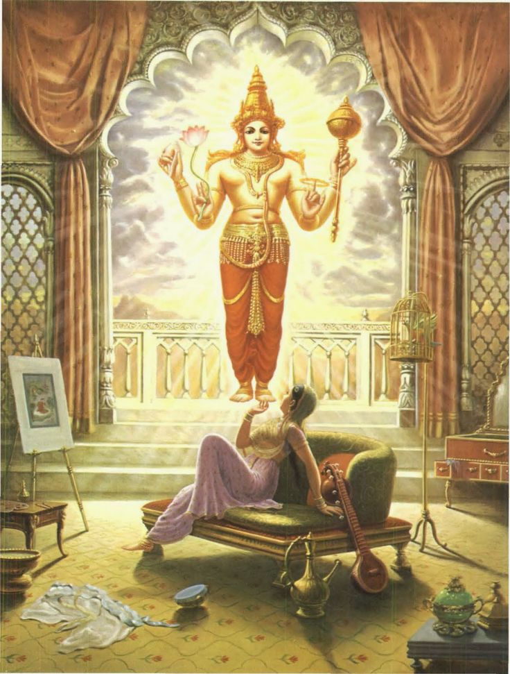 Kunti tests the mantra given by Durvasa Muni; the sun god actually appears.