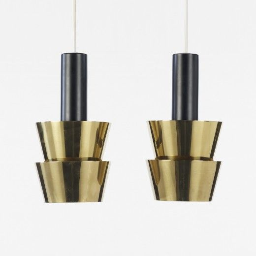 294: Tapio Wirkkala / pendant lamps, pair < Scandinavian Design, 12 May 2011 < Auctions | Wright