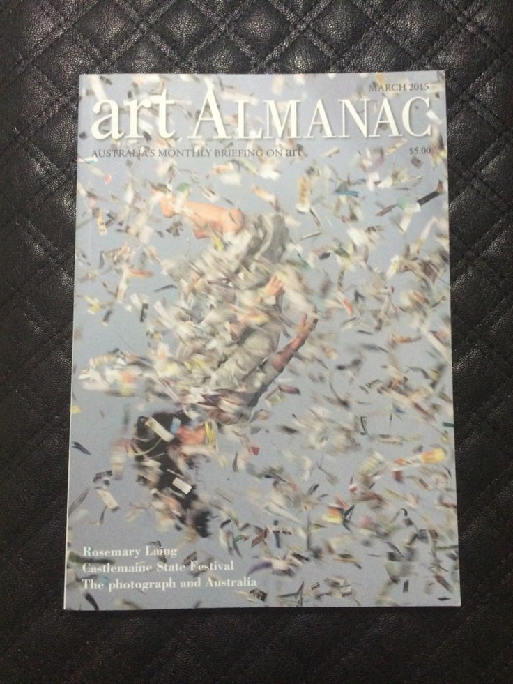 Art almanac graphic cover.