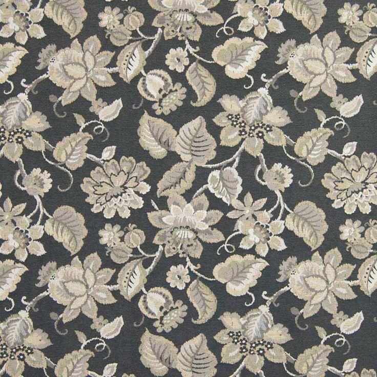 Warwick Fabrics : ARYANA, Colour EBONY