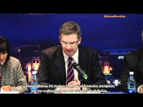 Ο Ιρλανδός δημοσιογράφος Vincent Browne εκθέτει τον τραπεζίτη της ΕΚΤ Klaus Masuch,και δίνει μάθημα για το πώς πρέπει να είναι ο αμερόληπτος δημοσιογράφος.
