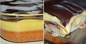 Úžasný pudingový koláč - Receptik.sk